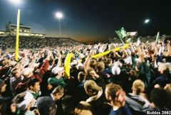 Students rush the field!