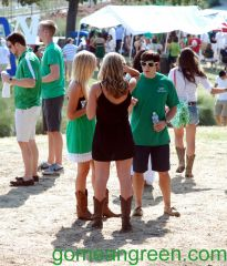 Mean Green Huddle on The Hill