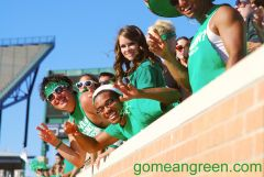 UNT Students with Wing in background