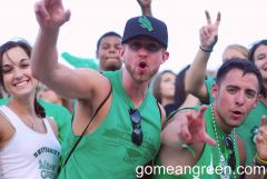 UNT Students showing their pride