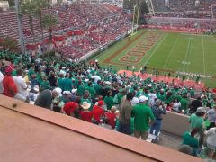 Shot of UNT Traveling Fanbase @Houston