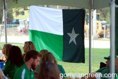 UNT Battle Flag in Houston