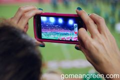 Iphoning the Green Brigade at Houston