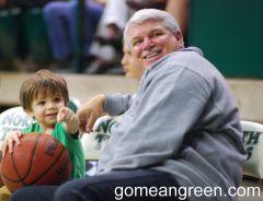 UNT AD Rick Villarreal and his grandson