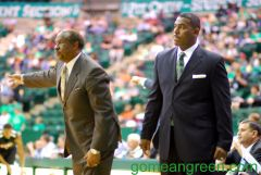 Coach Robb Evans and Tony Benford