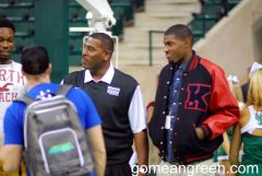 Coach Benford with recruits
