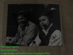 george and hank autographed photo