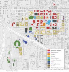 UNT 2013 Master Plan map