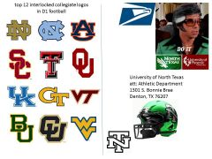 """they're doing it right"" top 12 D1 schools with an interlocked logos"