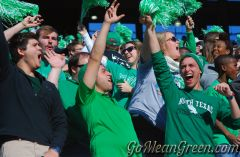 Mean Green Fans Celebrate Touchdown