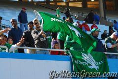 Green Flag Waver Fan On UNLV Side