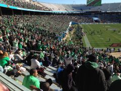MeanGreen01 Photo Of Cotton Bowl with UNT Fans