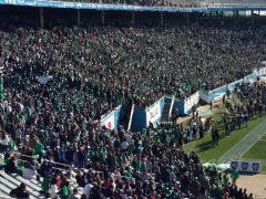 UNT side Of Cotton Bowl prior To kickoff