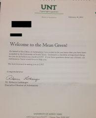 Acceptance Letter!