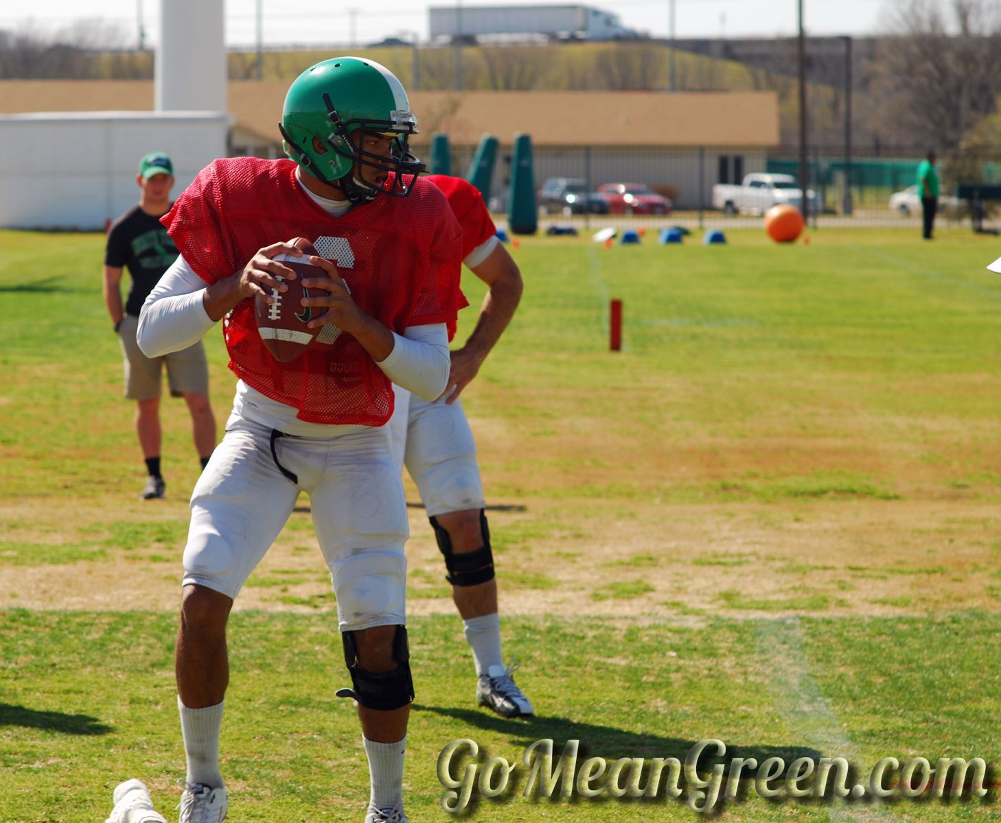 UNT QB DaJon Williams looks For receiver