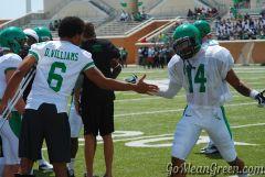 Dajon Williams congratulates his teammate