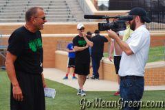 Coach Mac and Ashton Campbell