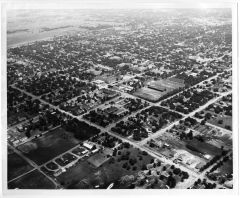 1948 Aerial Photograph of the North Texas State Teachers College Campus