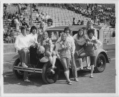 North Texas State University Cheerleader, 1974