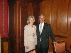 UNT Chancellor Lee Jackson and Senator Kay Bailey Hutchison