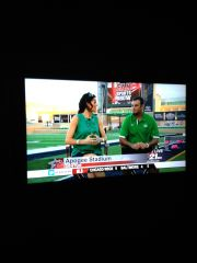 Derek Thompson with Gina Miller from Channel 21 at Apogee