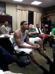 Tony Benford hosts a watching party in his office for the 2012 NBA Draft