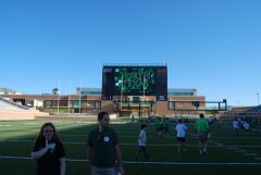 Main Scoreboard - UNT Stadium Opening 2011