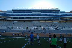 Alumni Side Pressbox view from field