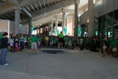 Coach Mac Draws a Crowd at UNT Stadium Opening 2011