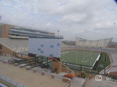 Stadium Yard Numbers being Placed