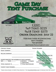 2011 Mean Green Tailgating Tents