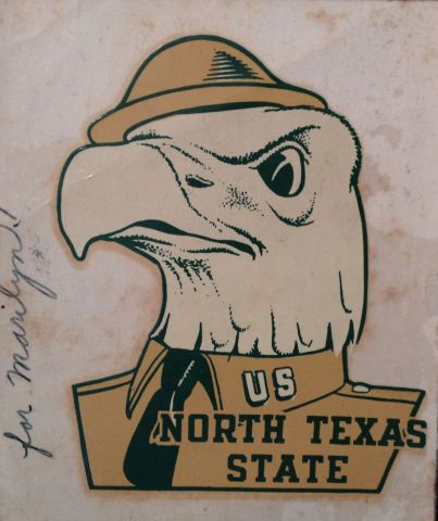 Vintage North Texas State Decal U.S. Army Eagle WWII
