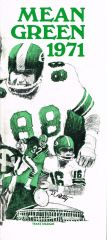 1971 North Texas State University football media guide