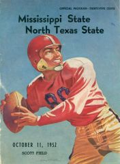 1952 program North Texas vs. Mississippi State