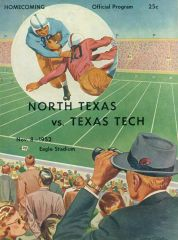 1952 Program, North Texas Vs. Texas Tech