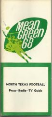1968 North Texas Football Media Guide