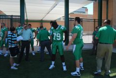 UNT OL Ayodele Adepipe #79 And Frosh Grant Shaw #68