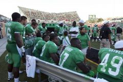 UNT Defense Bench @Apogee Stadium Opener