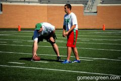 James Weston Thaggard snapping the ball