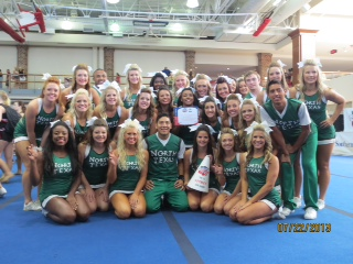UNT CHEER GETS 2013 MOST SPIRITED AWARD AT COLLEGE NATIONALS!!