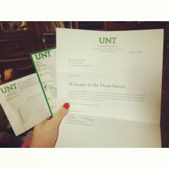 Acceptance Letter from UNT