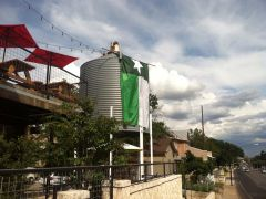Mean Green Flag Flying Proudly at The Silo