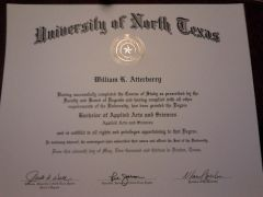 Will Atterberrry's UNT Diploma