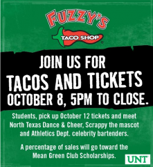 Fuzzy's Tacos Promotion on October 8th, 2013 5PM to Close