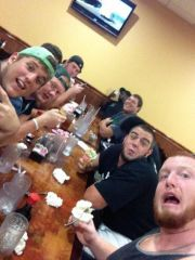 UNT 2013 O-Line Chowin Down