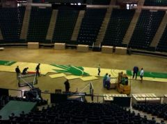 New Super Pit floor being installed