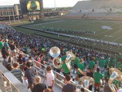 Photo from 2013 UNT Student Football Pep Rally with Coach Mac