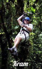 KRAM Zip Lining in Costa Rican Rain Forest