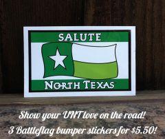 New Mean Green BattleFlag Bumper Sticker