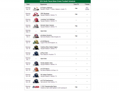2014 North Texas Football Schedule